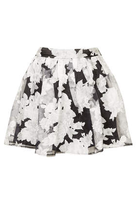 **Printed Skater Skirt by Rare - Skirts  - Clothing  - Topshop