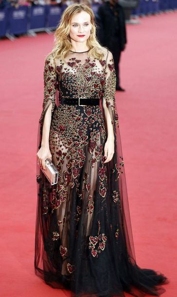 dress gown heart belt prom dress long prom dress see through see through dress diane kruger red carpet dress red carpet