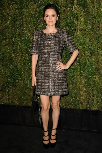 dress fall outfits fall dress rachel bilson pumps