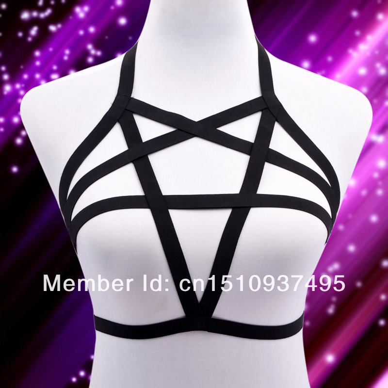 2014 New  Free Shipping Pentagram Harness   Body Cage Bondage 02-in Garters from Apparel & Accessories on Aliexpress.com