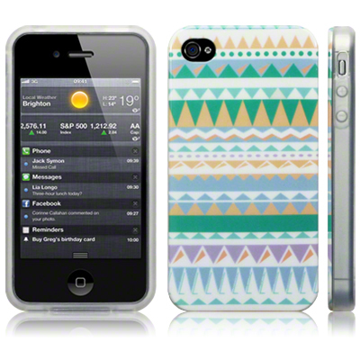 Image tpu gel case for iphone 4s / iphone 4 / aztec