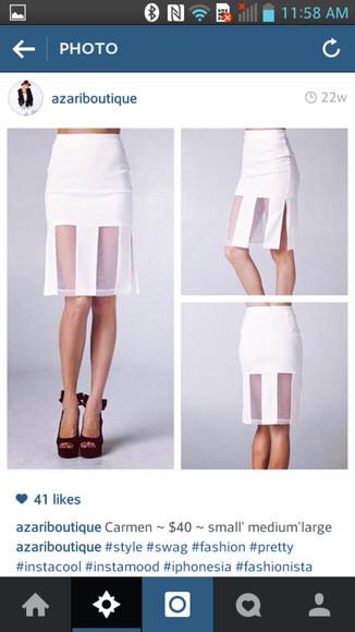 skirt white skirt highwaisted