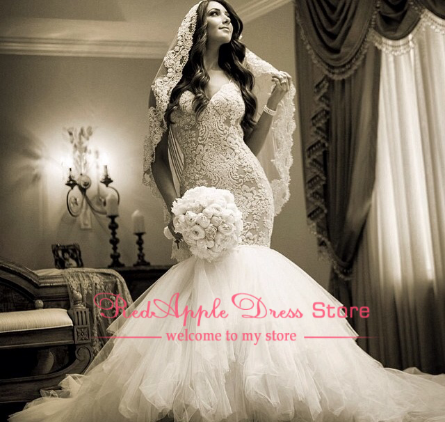 Luxury Cathedral Train Perfectly Dressed Dress Lace Long Mermaid Bridal Gowns 2014 Sweetheart Sexy Wedding Dress Open Back-in Wedding Dresses from Apparel & Accessories on Aliexpress.com | Alibaba Group