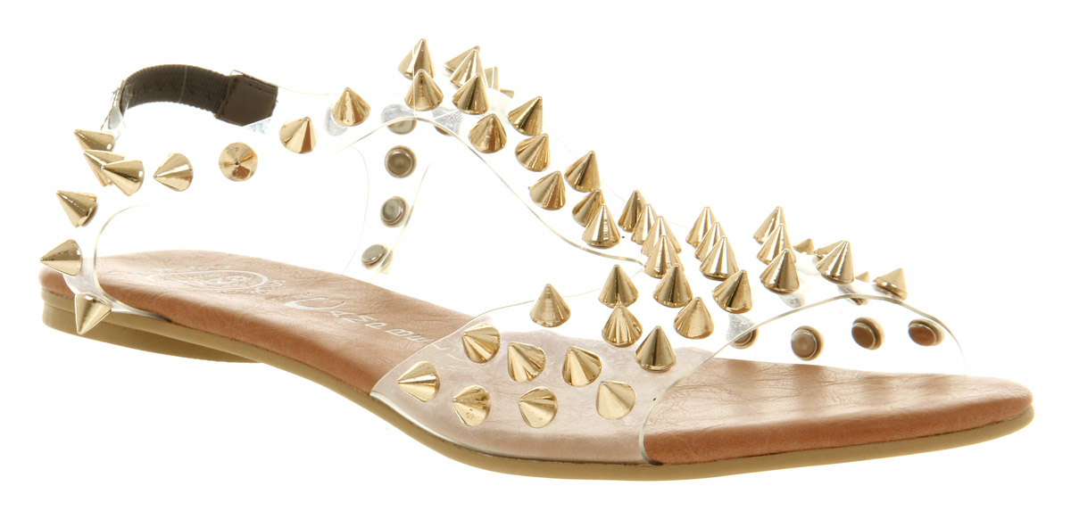 Gold Spikes Jeffrey Campbell Womens Sandal Clear Puffer SandalsEbay 2EDWIHe9Y