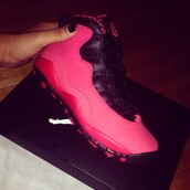 shoes,jordans,pink,sneakers,india westbrooks,swag,black,11's,cute,trill,new,hot pink,jays,jordon 11s