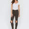 Make the cut-out distressed skinny jeans white salmon olive plum camel teal - gojane.com