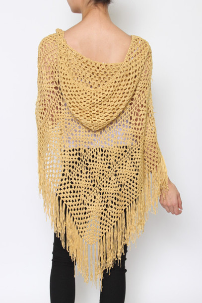 top crochet crochet top crochet fringe poncho crochet cover up