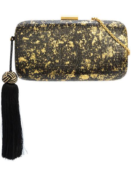KAYU metallic tassel women bag clutch black