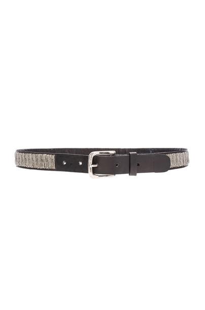 Aspiga beaded belt black