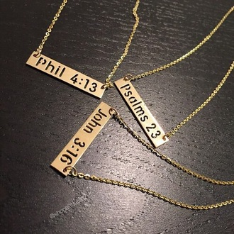 jewels gold bible verse bible necklace bible quote gold necklace