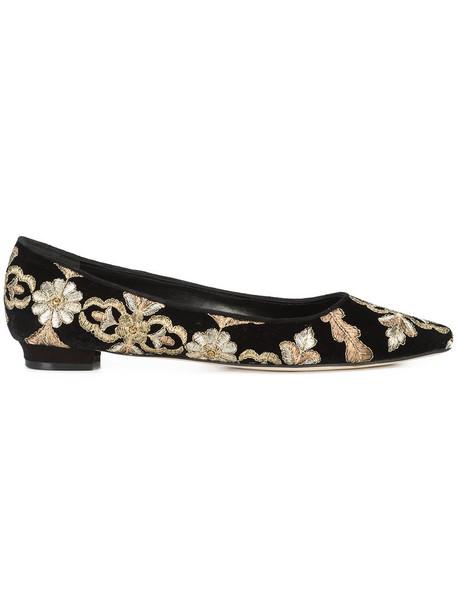 Manolo Blahnik metallic women pumps leather black velvet shoes