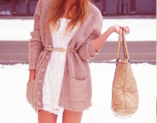 bag cardigan love more sweater dress
