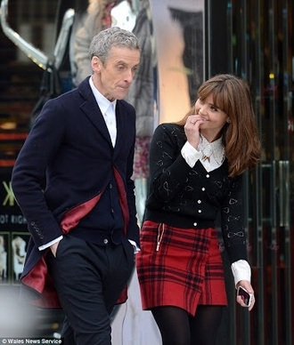 skirt doctor who clara oswald soufflé girl plaid skirt red plaid skirt
