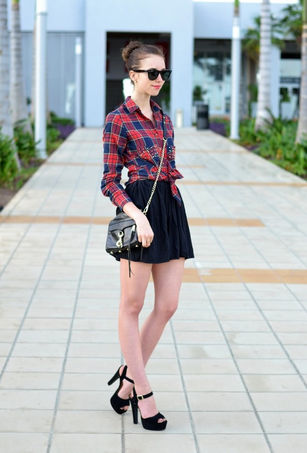 vogue haus blouse skirt shoes bag sunglasses jewels