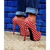platform shoes,polka dots,shoes
