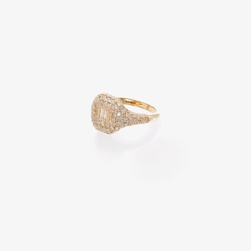 Shay 18K yellow gold pavé diamond ring