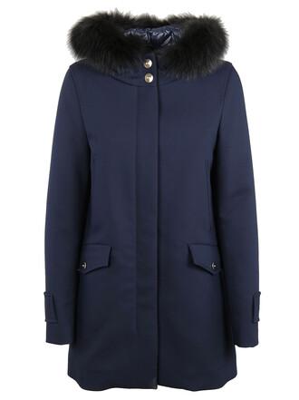 coat fur blue