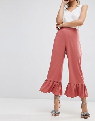pants culottes ruffle want need