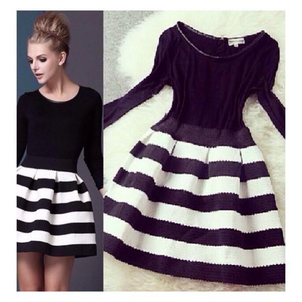 dress striped dress style black dress
