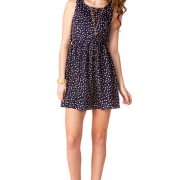 JUN & IVY POLKA DOT & LACE DRESS on Wanelo