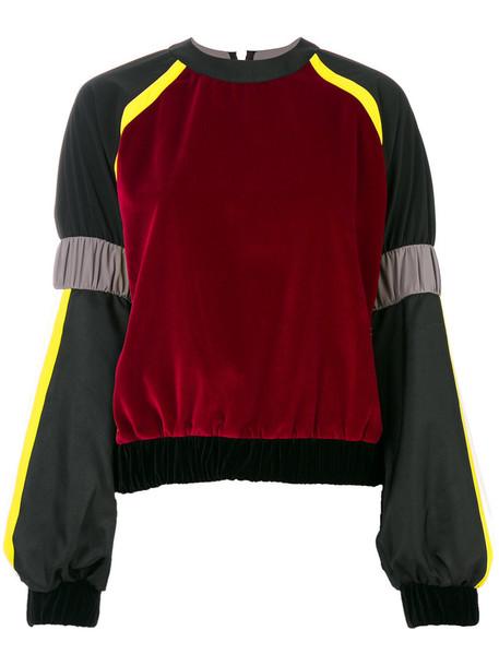 NO KA' OI sweatshirt women spandex black sweater
