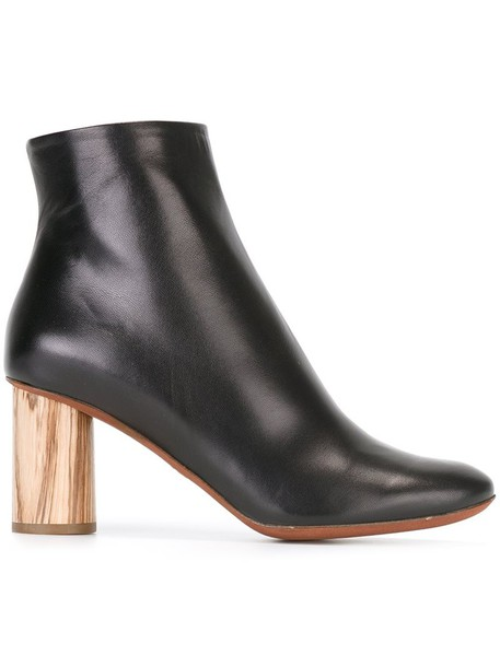 Proenza Schouler heel chunky heel boots ankle boots black shoes