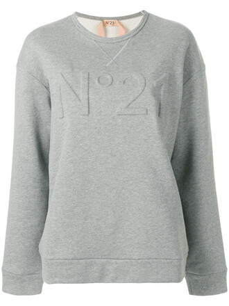 sweatshirt women cotton grey sweater