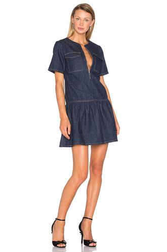 dress short blue