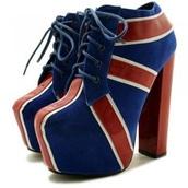 shoes,union jack,platform heels