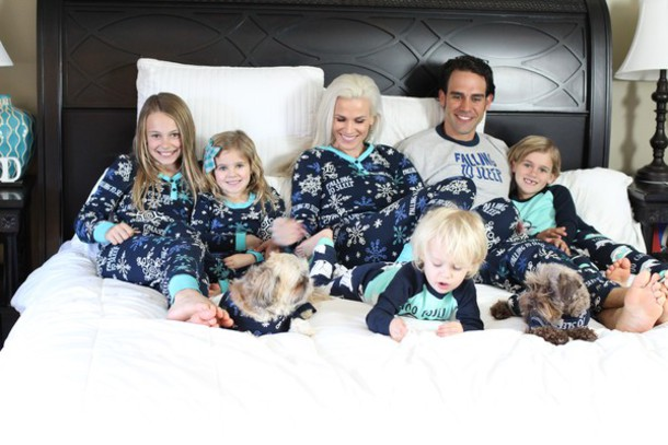 Pajamas Matching Set Family Cute Funny Lovely Time Dog Kids Fashion Children Fam Silly Snow