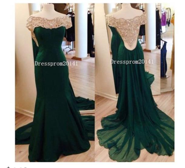 dress green dress jewels long prom dress prom dress nude dress