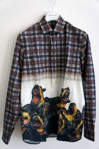 shirt рубашка в клеточку givenchy jacket dog band t-shirt t-shirt bag