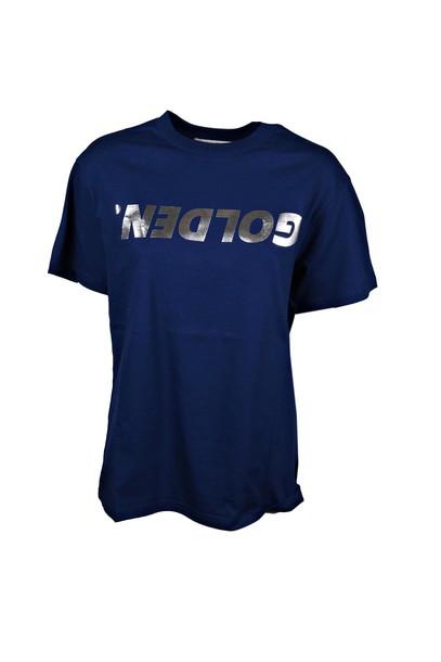 Golden goose t-shirt shirt t-shirt silver blue top