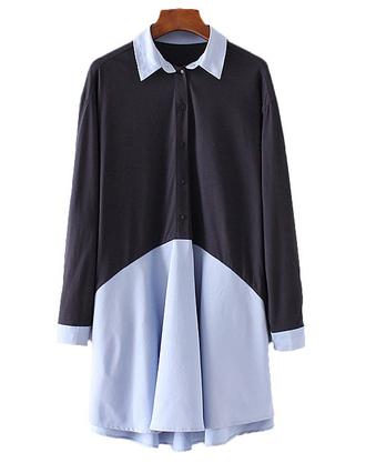dress brenda-shop shirt dress navy navy dress elegant office outfits tunic tunic dress mini dress trendy