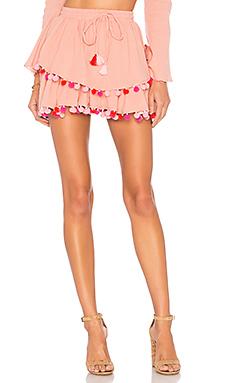 MAJORELLE Calypso Skirt in Blush from Revolve.com