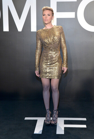 dress sequin dress sequins gown gold gold sequins scarlett johansson
