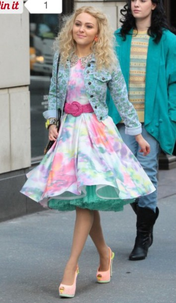 dress,floral,tie dye,the carrie diaries
