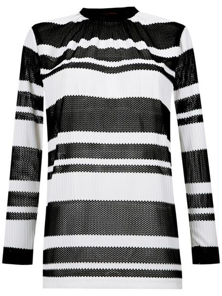 blouse women black knit top