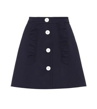 miniskirt embellished blue skirt