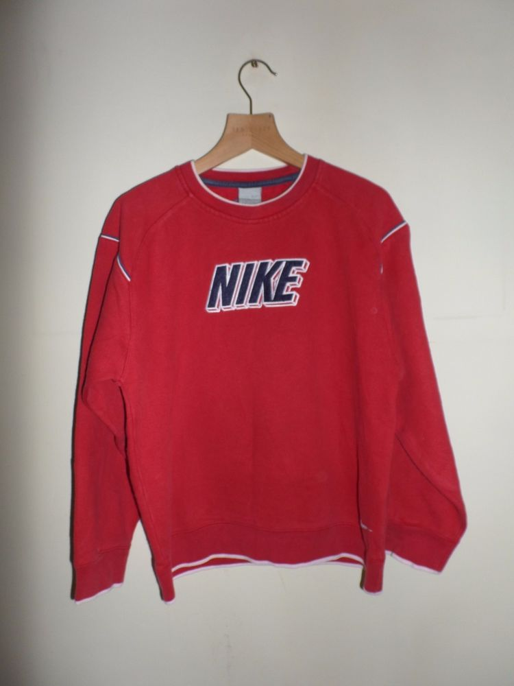 Vintage Nike Red Spell Out Sweater