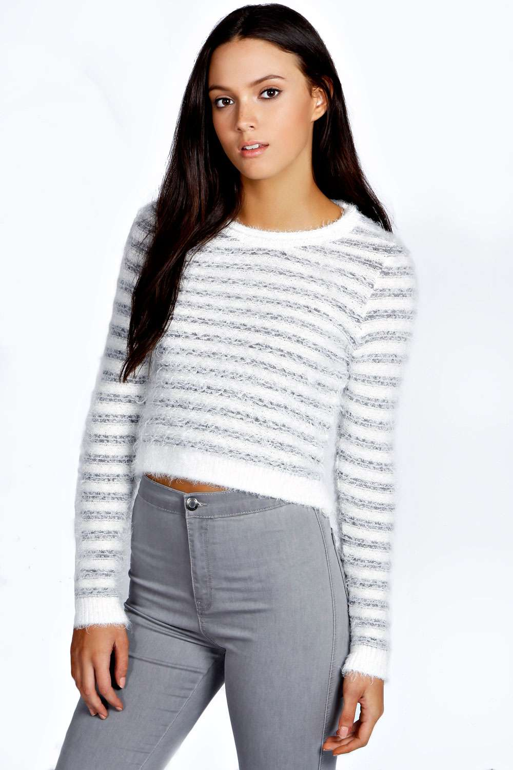Amy fluffy knit stripe jumper
