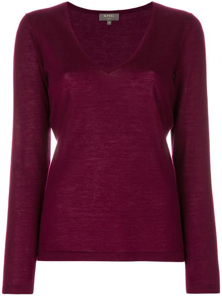 N.Peal jumper women purple pink sweater