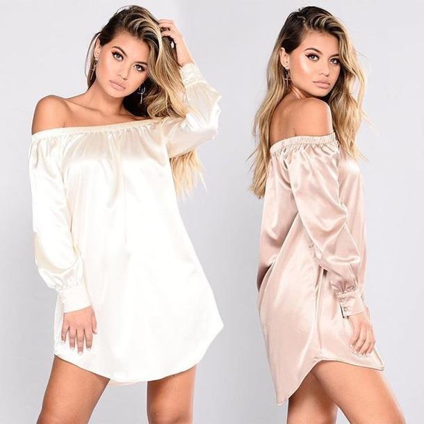 dress model satin