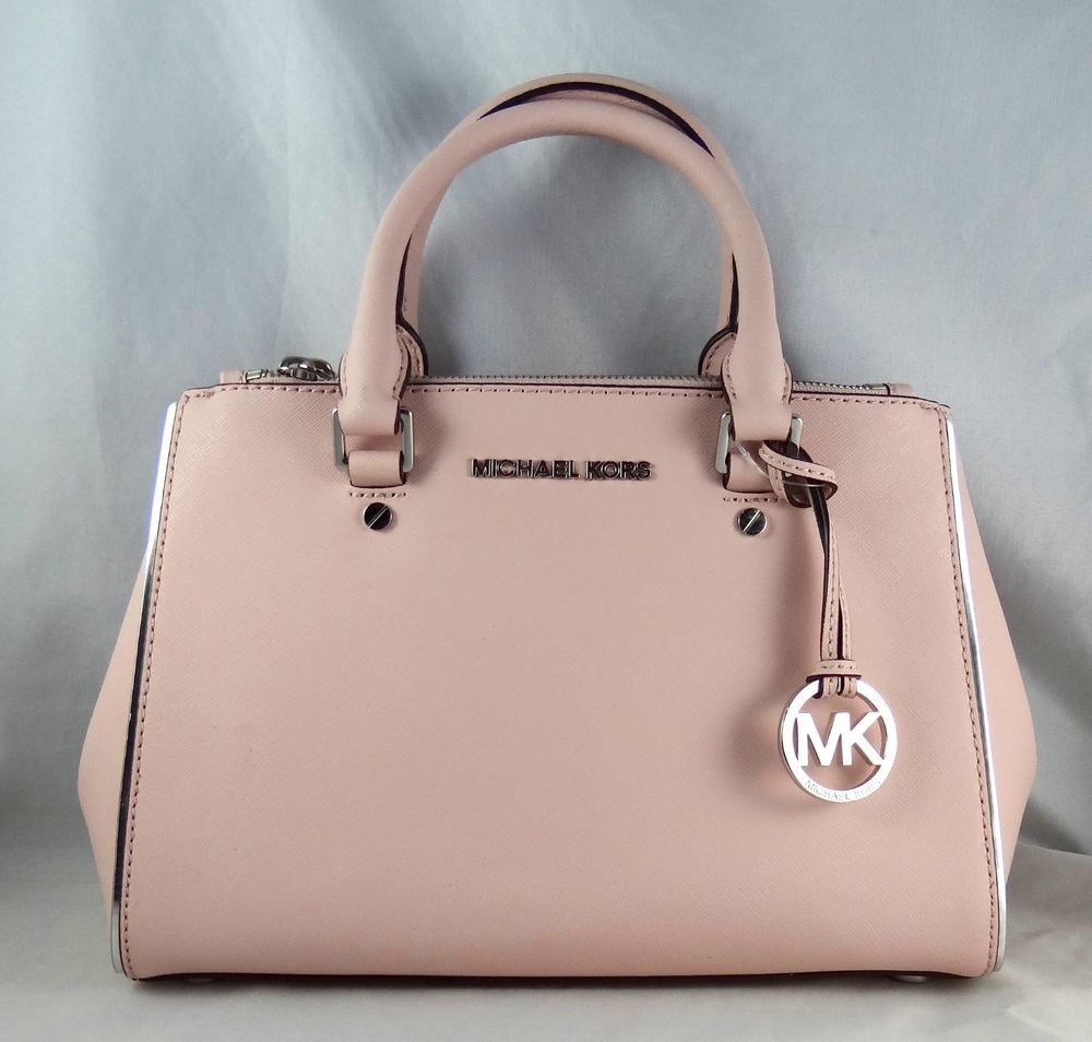 242deaf91991 MICHAEL MICHAEL KORS SUTTON SPECCHIO SAFFIANO LEATHER SMALL SATCHEL BAG