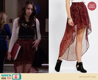 skirt spencer hastings pll clothing