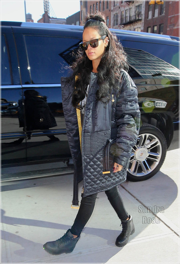 Coat rihanna winter swag black coat down jacket ...