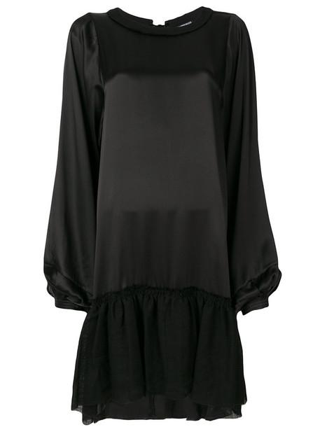ANN DEMEULEMEESTER dress women cotton black silk wool