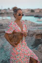 mesvoyagesàparis,blogger,top,skirt,sunglasses,bag,shoes,jewels,cult gaia bag,summer outfits