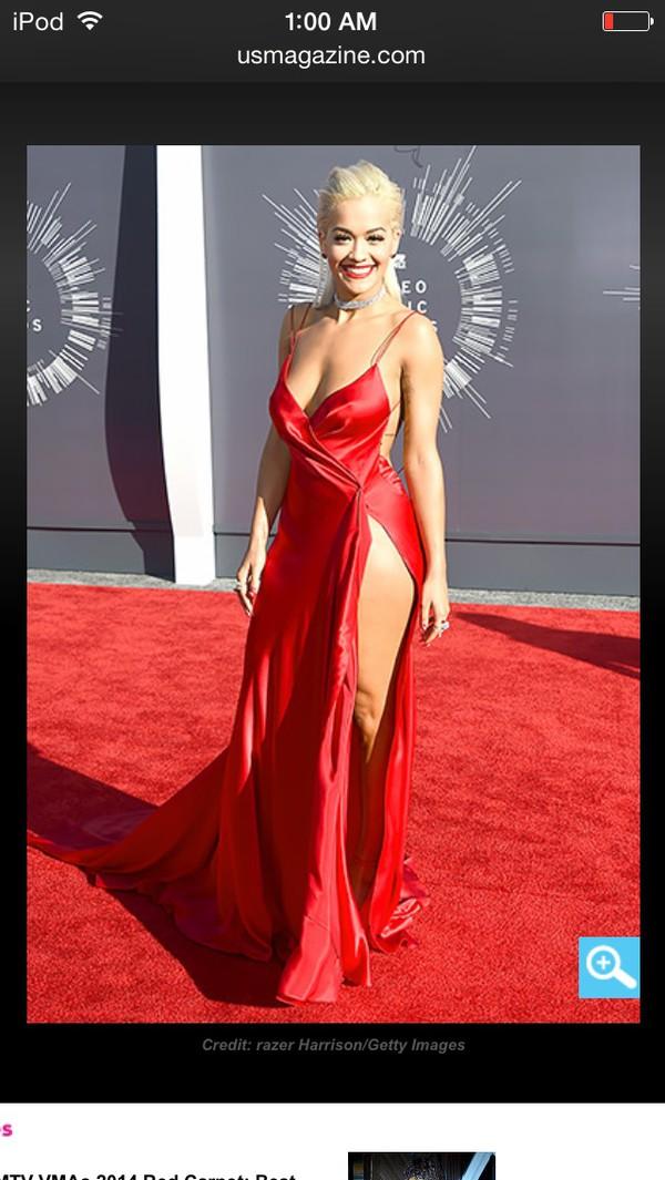 red dress rita ora prom dress dress