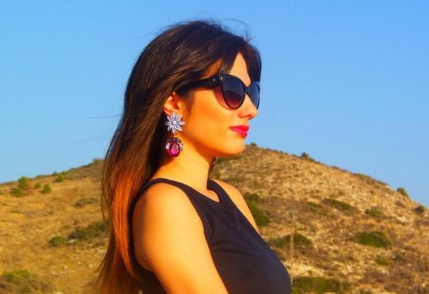 jewels earrings jewelry sunglasses